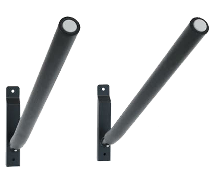 Sparehand Single Wall Mount Rack with Angled Padded Arms for 1 Surfboard or SUP Paddle Board